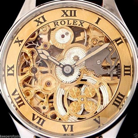 rolex co skeleton engraving precision chronometer