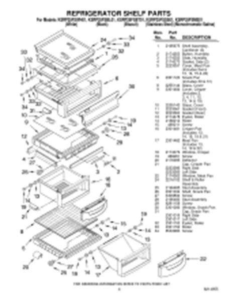 kitchenaid superba refrigerator parts diagram refrigerator parts kitchenaid superba 42 refrigerator parts