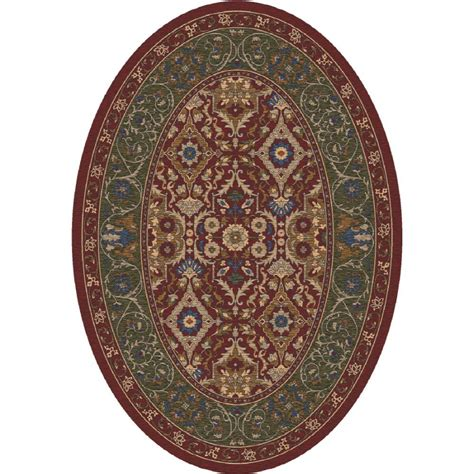 lowes oval area rugs shop milliken sandakan oval transitional tufted area rug common 5 ft x 8 ft actual 5 33