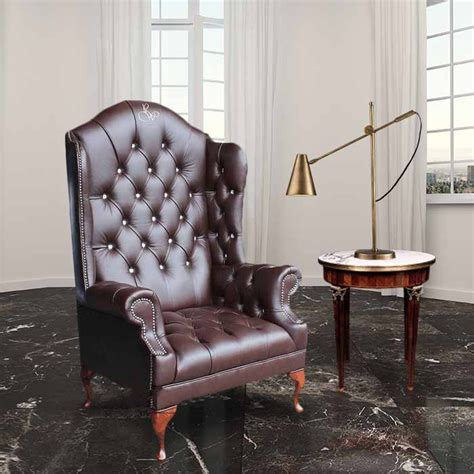 scarface couch chesterfield embroidered high back wing chair