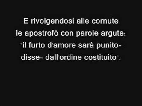 bocca di rosa testo bocca di rosa fabrizio de andr 232 lyrics testo