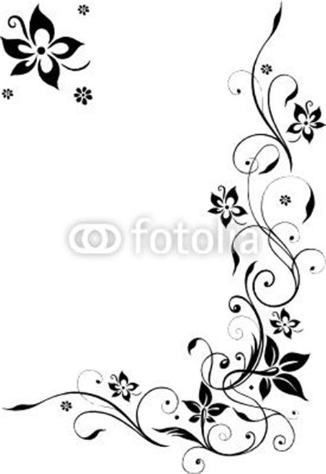 Blumenmuster Vorlagen Vektor Blumenranke Bl 252 Ten Filigran Schn 246 Rkel