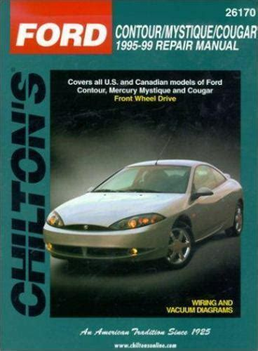 car repair manuals online pdf 1995 ford contour user handbook 1995 1999 ford contour mystique cougar repair manual 801991056 ebay