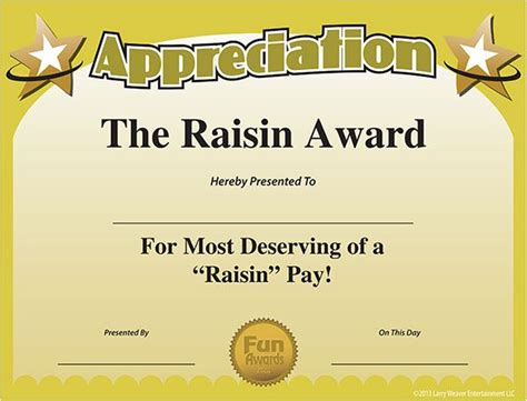 free award template printable work awards certificate of appreciation