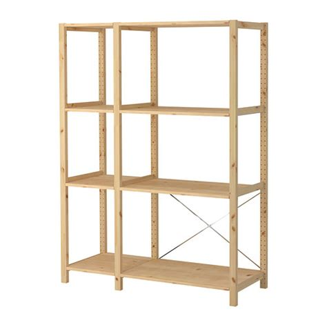 ivar 2 sections shelves ikea