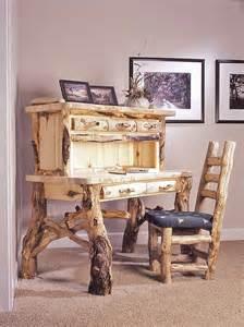 log desk rustic log furniture building