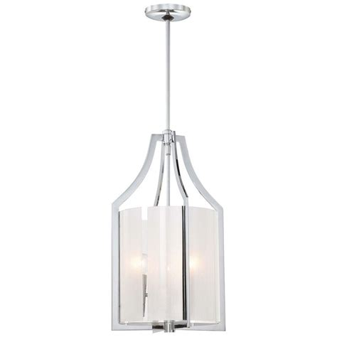 Minka Pendant Lights Minka Lavery Clarte 3 Light Chrome Pendant 4392 77 The Home Depot