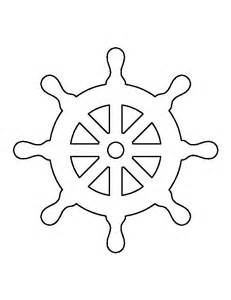 ship wheel template steering wheel pattern use the printable outline for
