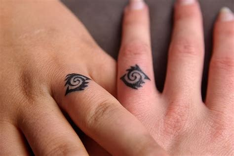 wedding band tattoos for couples ring finger tattoos for couples ideas mag