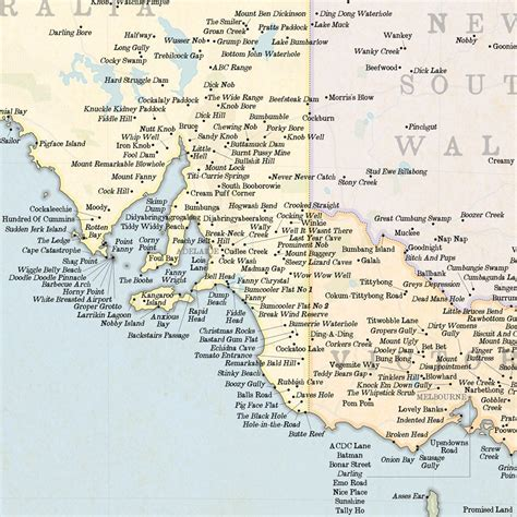 Slang Knob by Finally A Map Of All The Knobs In Australia