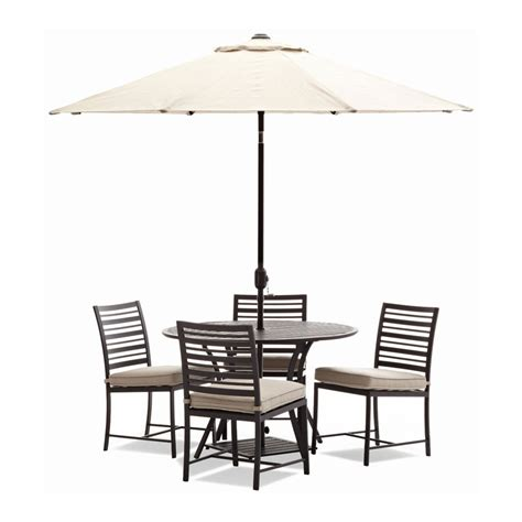 Furniture Outdoor Table Bench Set With Cushions Patio Table And Umbrella