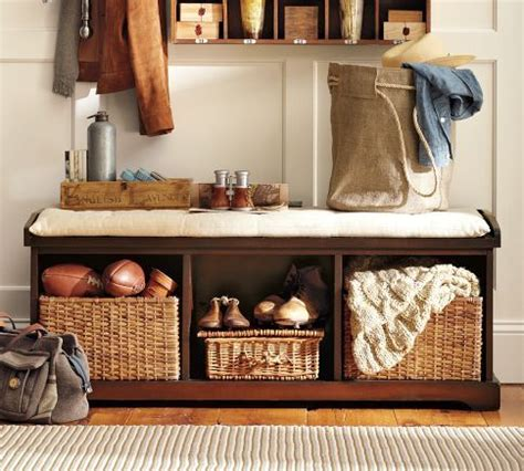 pottery barn entryway bench pottery barn