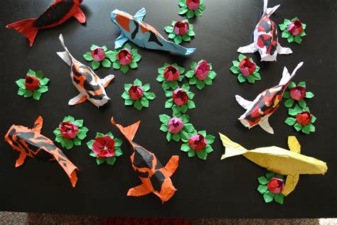 Origami Pond - the midnight carver origami koi