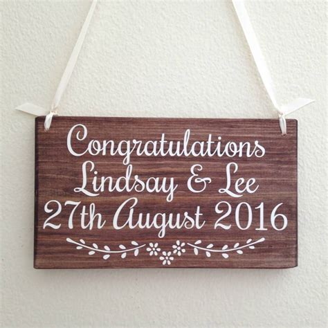 Handmade Wedding Signs - personalised name and date handmade wooden wedding sign by