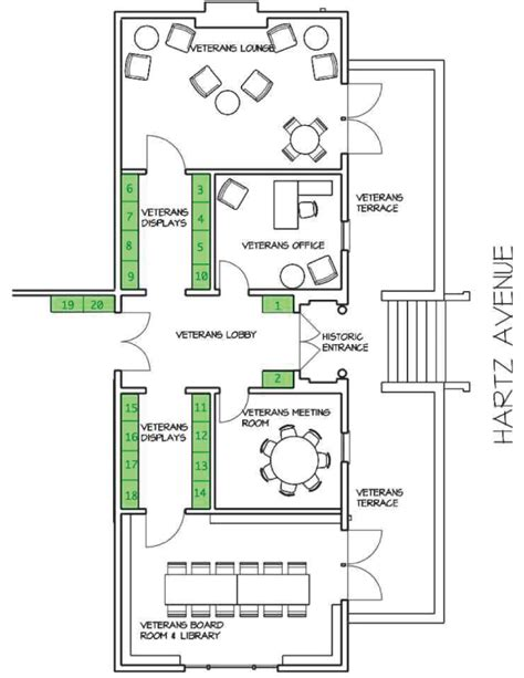 rock and roll hall of fame floor plan historical collections veterans memorial building san