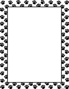 Paw Print Page Border Clip by Paw Print Border Clip Free Clipart Borders