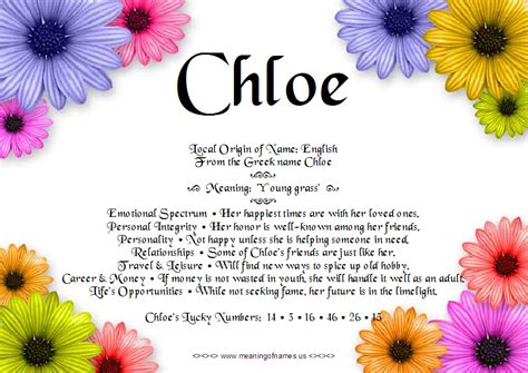 Chloe Meaning Picture And Images