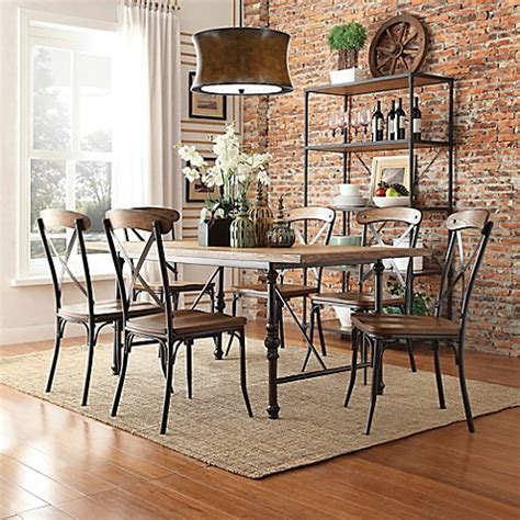 Verona 7 Set Termurah verona home sedgwick 7 dining table set bed bath beyond