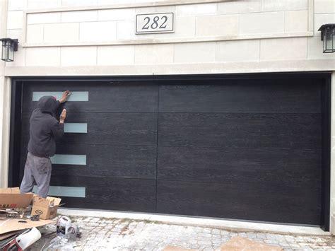 modern garage doors woodgrain garage doors with frosted