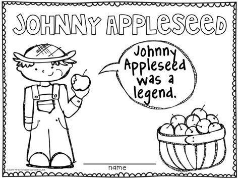 17 Best Images About Johnny Appleseed On Pinterest Crafts Back To School And Tall Tales Johnny Appleseed Coloring Pages