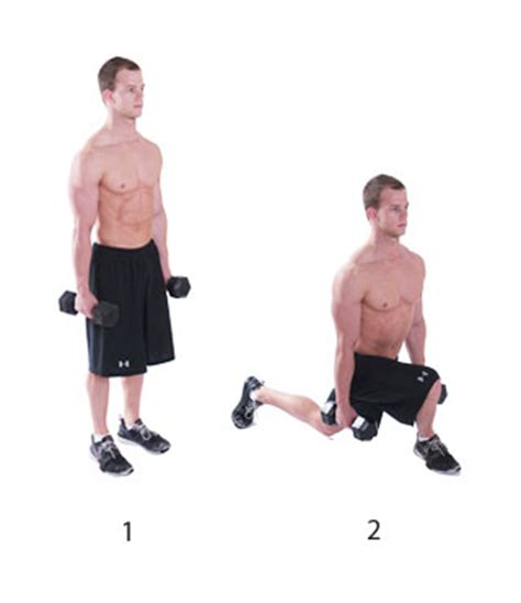 dumbbell bench lunges weight training routine ayearinthailand