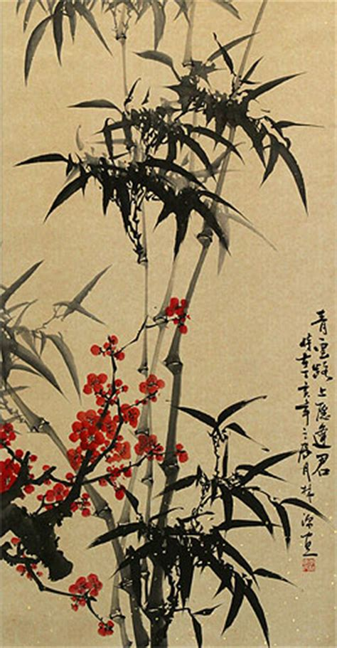 bamboo tattoo near me bamboo and plum blossoms tattoo real photo pictures