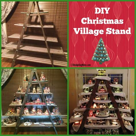 christmas village snow blankets with lights diy christmas village stand diy christmas village
