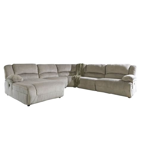 ashley chaise sectional ashley toletta 5 piece left chaise reclining sectional in