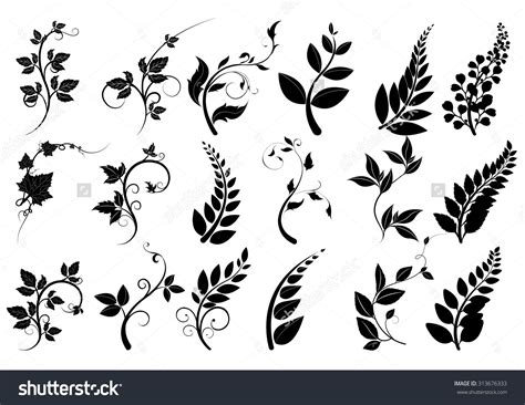 lime silhouette silhouettes of trees leaves vector line borders text
