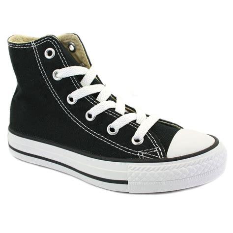converse yas hi top 3j231 canvas trainers black white