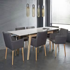 meuble table 224 manger moderne et scandinave blanche laqu 233 e mat