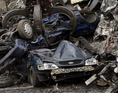 the junkyard crane grabber crushes car photos from the junkyard ny daily news