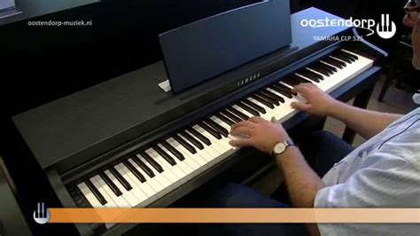 tutorial piano yamaha yamaha clp 525 digitale piano sounddemo youtube
