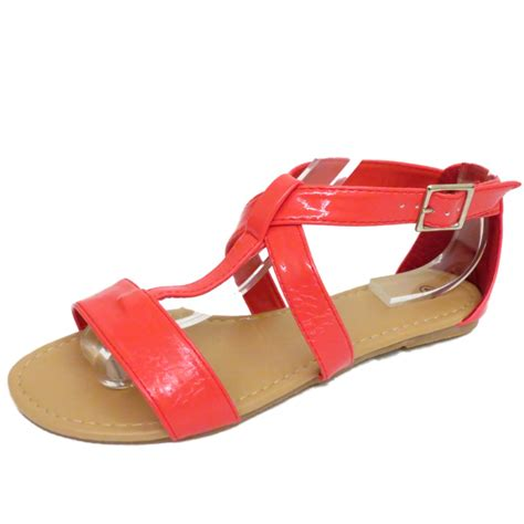 coral sandals flat coral gladiator strappy summer sandals flip