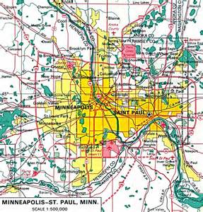 Map of minneapolis twin cities map