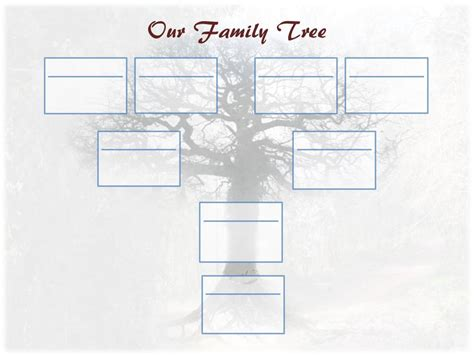 one sided family tree template editable family tree template ancestry talks with paul