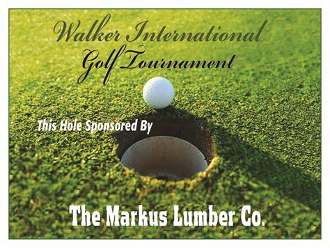 Custom And Template Golf Banners A1 Golf Events Golf Sponsor Sign Template