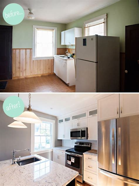 home design before and after 20 small kitchen renovations before and after diy