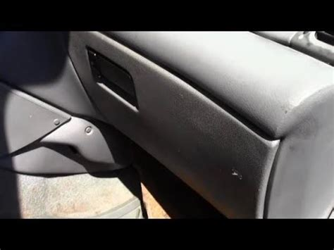 how to remove install glove box on car youtube