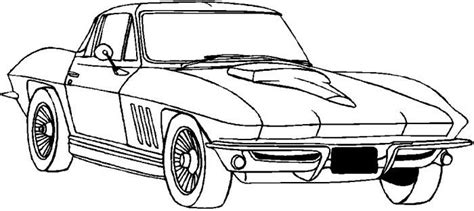 vintage corvette drawing corvette coloring page corvette