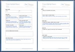 Highlight Report Template john burke s education project project highlight report
