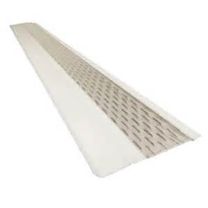 home depot gutter screens 4 ft x 6 in clean mesh white aluminum gutter guard 25