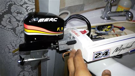 rc boats outboard motors atomik whiplash 24 with hobbyking cnc rc outboard motor