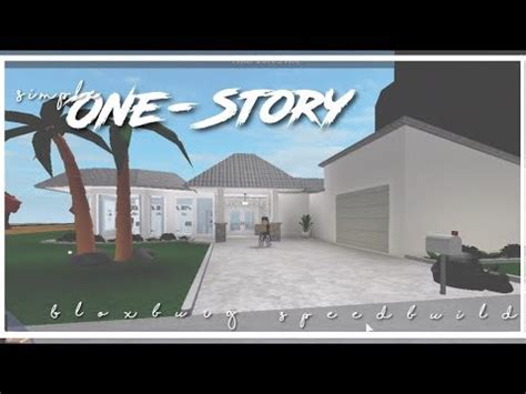 roblox | bloxburg | simple one story house youtube