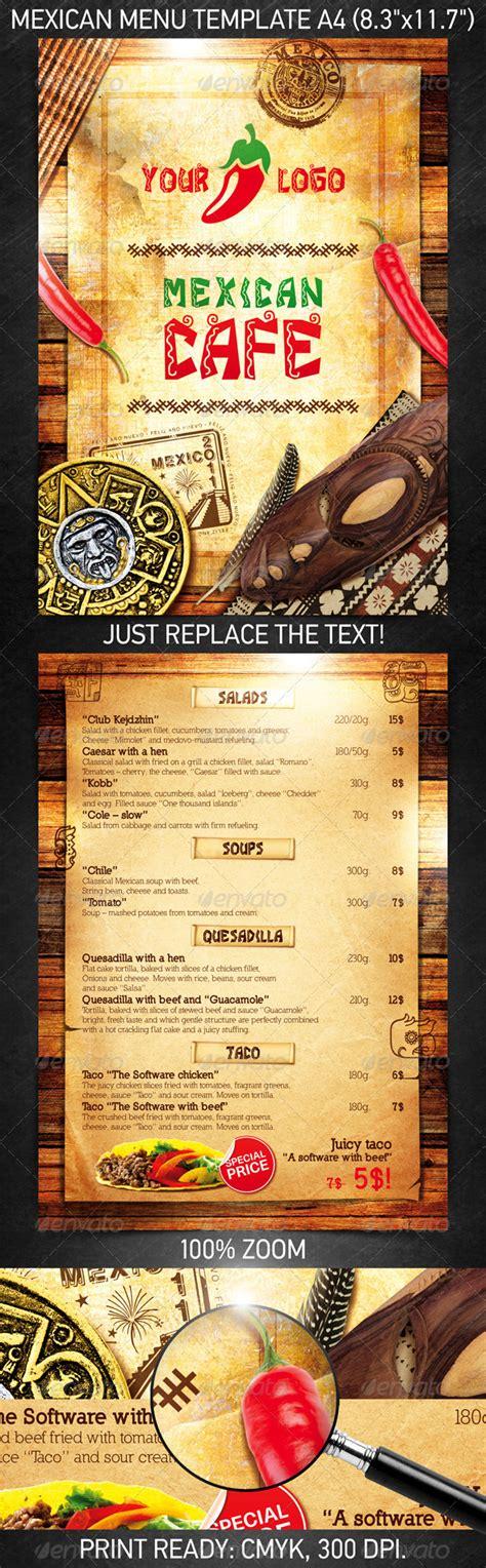 design mexican menu mexican menu template psd template on behance