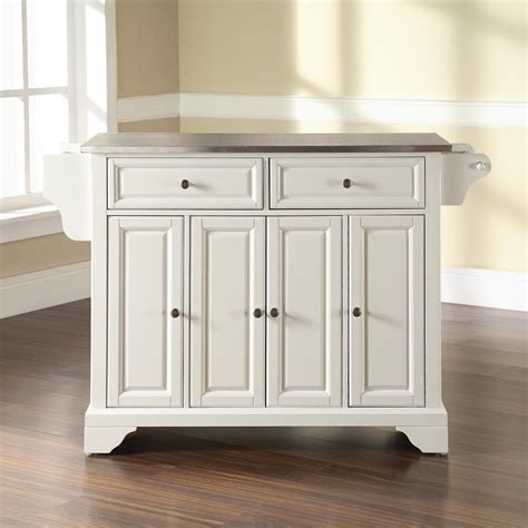 Kitchen Islands At Lowes Shop Crosley Furniture White Craftsman Kitchen Island At