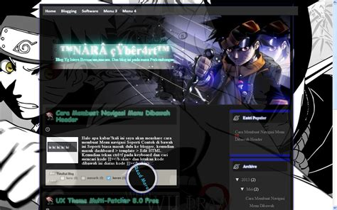 download template anime naruto uniq untuk blog takim quot san