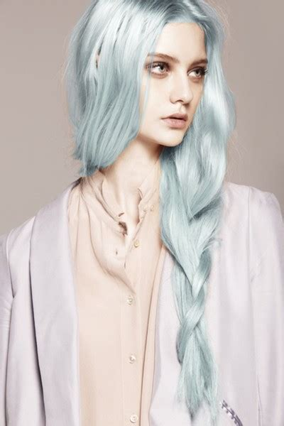 icy blue blue hair turqoise olesja s fashion illustration
