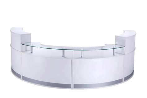 White Gloss Desk Vienna Reception Desk City Office Furniture