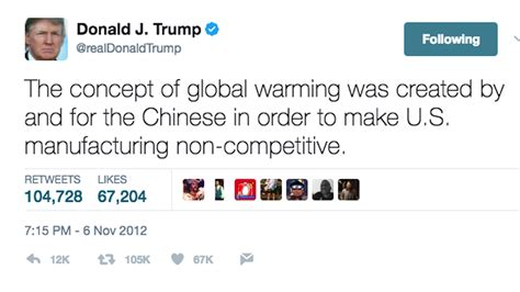 donald trump global warming donald trump has tweeted climate change skepticism 115